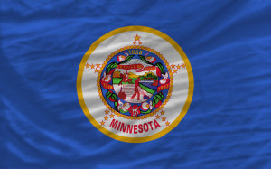 complete waved flag of american state of minnesota for backgroun